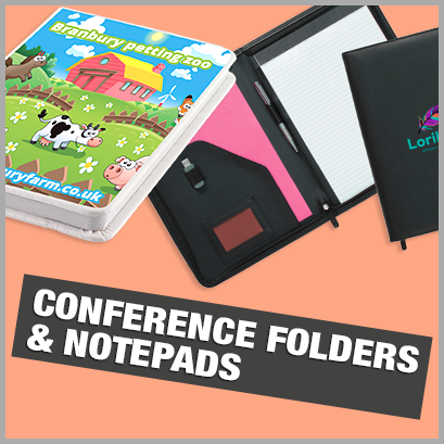 Conference Folders & Notebooks personalised with print